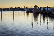 Docked Boats Metal Prints - Providence Waterfront Metal Print by Andrew Pacheco