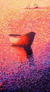 Waterscape Painting Metal Prints - Provincetown Glow Metal Print by Craig  Bruce