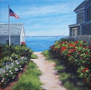 P Town Paintings - Provincetown June by Candice Ronesi
