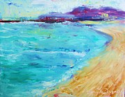 Cape Cod Mass Painting Prints - Provincetown Rocky Beach Print by Maria Milazzo