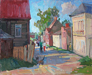Cardboard Originals - Provincial small town by Juliya Zhukova