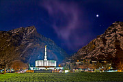 Angel Moroni Framed Prints - Provo Temple Early Morning Framed Print by Cheryl Lubben