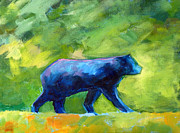 Abstract Wildlife Paintings - Prowling by Nancy Merkle