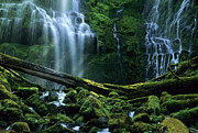 Bob Christopher Prints - Proxy Falls Print by Bob Christopher