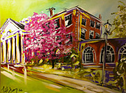 Chatham Painting Prints - Pruden Hall Print by Nancy Hilliard Joyce