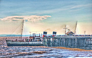 Ps Waverley At Penarth Pier Print by Steve Purnell