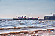 Ps Waverley Leaves Penarth Pier 2 Print by Steve Purnell