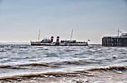 Ps Waverley Leaves Penarth Pier Print by Steve Purnell