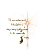 Psalm 23 Posters - Psa 23.3 The Lord is my Shepard Poster by Ronel Broderick