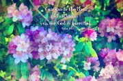 Merciful Prints - Psalm 116 5 Print by Michelle Greene Wheeler