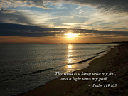 Psalm 119-105 Your Word Is A Lamp Print by Susan Savad