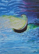 Worship God Paintings - Psalm 23- 4 by Lisa Kramer