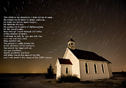 Scripture Reading Prints - Psalm 23 Night Photography Star trails Print by Mark Duffy