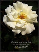 Psalm 55 22 Print by Sara  Raber