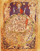 Featured Art - Psalter World Map by Photo Researchers