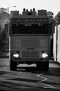 Unrest Framed Prints - PSNI water canon on crumlin road at ardoyne shops belfast 12th July Framed Print by Joe Fox