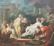 Fragonard Framed Prints - Psyche showing her sisters her gifts from Cupid by Fragonard Framed Print by Stefano Baldini
