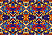 Symetry Posters - Psychedelic Aztec Tapestry Poster by  Onyonet  Photo Studios