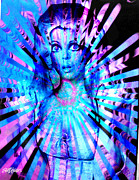 Seth Weaver Metal Prints - Psychedelic Barbie Metal Print by Seth Weaver