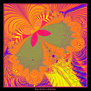 Psychedelic Butterfly Explosion Fractal 61 Print by Rose Santuci-Sofranko