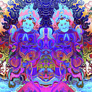 Covers Digital Art Prints - Psychedelic Print by Derek Selander