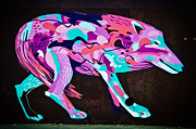 Tribal Art Paintings - Psychedelic Graffiti art Wolf by Yurix Sardinelly