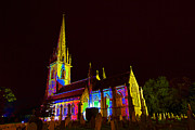 St Margaret Photos - Psychedelic image of Marble church by Allan Bell