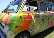 Psychedelic Photo Posters - Psychedelic Van Summer of Love Poster by Ann Powell