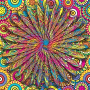 Backdrop Digital Art - Psychedelic Wall Art by Liane Wright