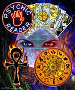 Gypsy Digital Art - Psychic Reader by The GYPSY