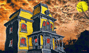 Surreal Landscape Painting Metal Prints - Psycho Metal Print by George Rossidis