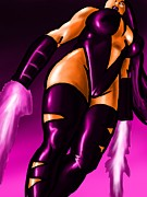 Psylocke Framed Prints - Psylocke Framed Print by Michael Briggs