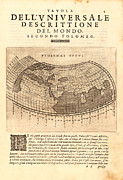 Antique Map Photos - Ptolemy Typus World Map 1621 by Karon Melillo DeVega