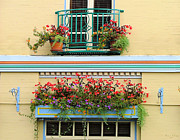 Boxes Photographs Framed Prints - Pub Balcony Framed Print by Wendy McKennon
