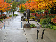 Rainy Day Photos - PUBLIC ART and FALL COLOR at the ARENA by Daniel Hagerman