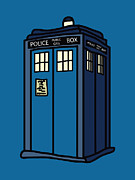 Tardis Digital Art Prints - Public Call Box Print by Jera Sky