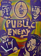 Rap Music Painting Originals - Public Enemy number one by Tony B Conscious
