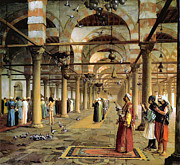 Public Prayer In The Mosque  Print by Jean Leon Gerome
