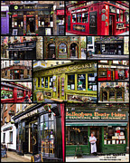 Fine Art Print Framed Prints - Pubs of Dublin Framed Print by David Smith
