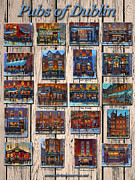 Long Street Prints - Pubs of Dublin Ireland Print by Chris Mc Morrow