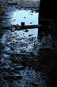 Puddle Acrylic Prints - Puddle Acrylic Print by HD Connelly
