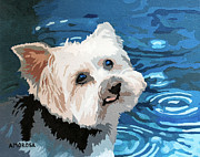 Toto Paintings - Puddles by Donald Amorosa