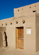 Log Homes Prints - Pueblo Doorway Print by Marilyn Hunt