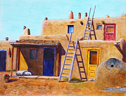 Taos Originals - Pueblo by Karen Fleschler