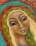 Divine Mother Framed Prints - Pueblo Priestess Framed Print by Maya Telford