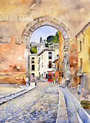 Granada Paintings - Puerta Elvira by Margaret Merry