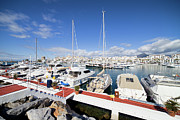 Andalusia Framed Prints - Puerto Banus Marina in Spain Framed Print by Artur Bogacki