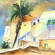 Lanzarote Paintings - Puerto Carmen Sunset in Lanzarote 03 by Miki De Goodaboom