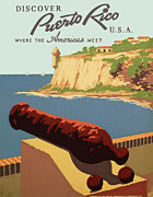 Historic Fortress Digital Art Prints - Puerto Rico - Where the Americas Meet Print by Nomad Art And  Design