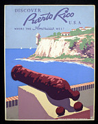 United States Travel Bureau Prints - Puerto Rico USA Print by Unknown